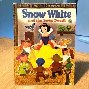 Vintage 1974 Snow White Big Golden Book Disney